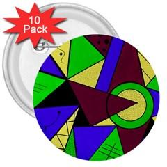 Modern 3  Button (10 Pack)