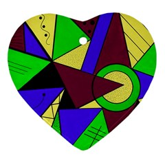 Modern Heart Ornament (two Sides) by Siebenhuehner