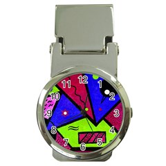 Modern Art Money Clip With Watch by Siebenhuehner
