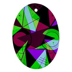Modern Art Oval Ornament by Siebenhuehner
