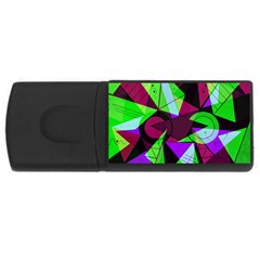 Modern Art 4gb Usb Flash Drive (rectangle)