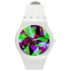 Modern Art Plastic Sport Watch (medium) by Siebenhuehner