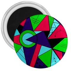 Modern Art 3  Button Magnet by Siebenhuehner