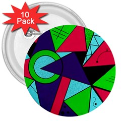 Modern Art 3  Button (10 pack) by Siebenhuehner