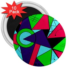 Modern Art 3  Button Magnet (10 Pack) by Siebenhuehner