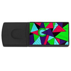 Modern Art 4gb Usb Flash Drive (rectangle) by Siebenhuehner