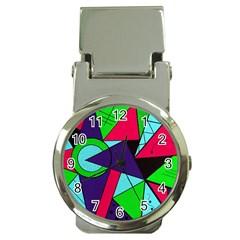 Modern Art Money Clip With Watch by Siebenhuehner