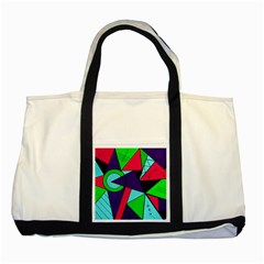 Modern Art Two Toned Tote Bag