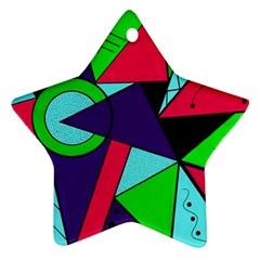 Modern Art Star Ornament (two Sides)