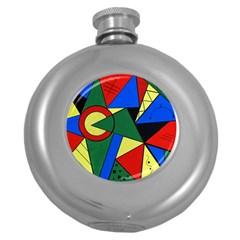 Modern Art Hip Flask (round) by Siebenhuehner