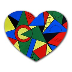 Modern Art Mouse Pad (heart) by Siebenhuehner