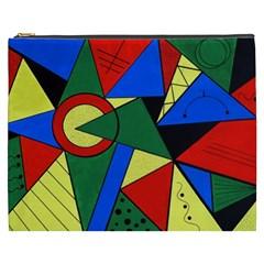 Modern Art Cosmetic Bag (xxxl)