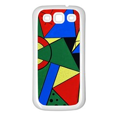 Modern Art Samsung Galaxy S3 Back Case (white) by Siebenhuehner