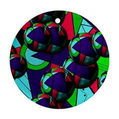 Balls Round Ornament by Siebenhuehner