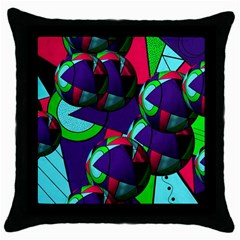 Balls Black Throw Pillow Case by Siebenhuehner