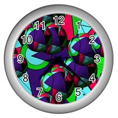 Balls Wall Clock (silver) by Siebenhuehner