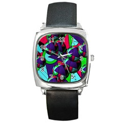 Balls Square Leather Watch