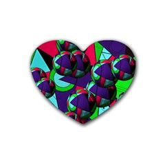 Balls Drink Coasters 4 Pack (heart)  by Siebenhuehner