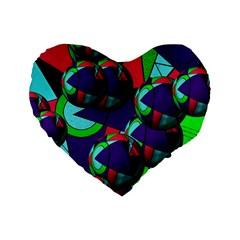 Balls 16  Premium Heart Shape Cushion