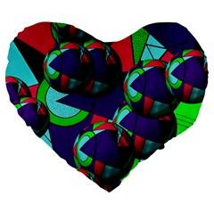 Balls 19  Premium Heart Shape Cushion by Siebenhuehner