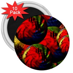 Balls 3  Button Magnet (10 Pack) by Siebenhuehner