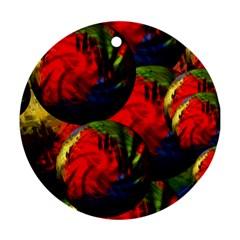 Balls Round Ornament (two Sides) by Siebenhuehner