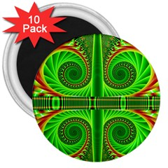 Design 3  Button Magnet (10 Pack) by Siebenhuehner