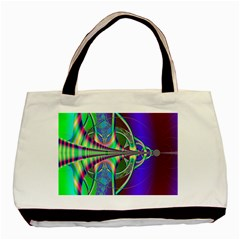 Design Twin Sided Black Tote Bag by Siebenhuehner