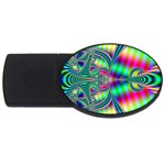 Modern Art 4GB USB Flash Drive (Oval) Front