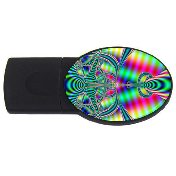 Modern Art 4GB USB Flash Drive (Oval)