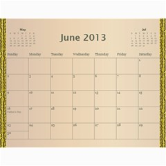Mom Final By Terry   Wall Calendar 11  X 8 5  (12 Months)   Eaxgx8h0k9ek   Www Artscow Com Jun 2013