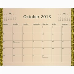 Mom Final By Terry   Wall Calendar 11  X 8 5  (12 Months)   Eaxgx8h0k9ek   Www Artscow Com Oct 2013