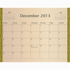 Mom Final By Terry   Wall Calendar 11  X 8 5  (12 Months)   Eaxgx8h0k9ek   Www Artscow Com Dec 2013