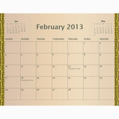 Mom Final By Terry   Wall Calendar 11  X 8 5  (12 Months)   Eaxgx8h0k9ek   Www Artscow Com Feb 2013