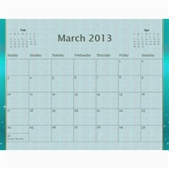 Mom Final By Terry   Wall Calendar 11  X 8 5  (12 Months)   Eaxgx8h0k9ek   Www Artscow Com Mar 2013
