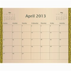 Mom Final By Terry   Wall Calendar 11  X 8 5  (12 Months)   Eaxgx8h0k9ek   Www Artscow Com Apr 2013
