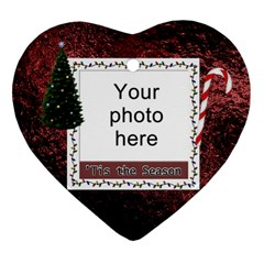 Tis The Season Heart Ornament (2 Sides) By Lil    Heart Ornament (two Sides)   Pa30msk0300z   Www Artscow Com Back