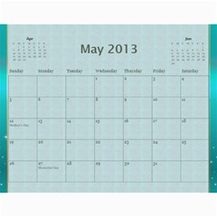 New 2014 By Terry   Wall Calendar 11  X 8 5  (12 Months)   R8wffkauh6m6   Www Artscow Com May 2013