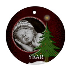 Special Year Round Ornament (2 Sided) By Lil    Round Ornament (two Sides)   6kexlm3vdrnk   Www Artscow Com Front