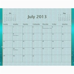 2013 Final By Terry   Wall Calendar 11  X 8 5  (12 Months)   Elkp8ibittec   Www Artscow Com Jul 2013