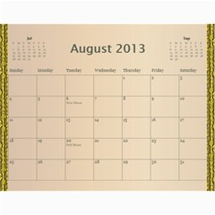 2013 Final By Terry   Wall Calendar 11  X 8 5  (12 Months)   Elkp8ibittec   Www Artscow Com Aug 2013