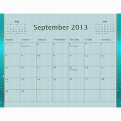 2013 Final By Terry   Wall Calendar 11  X 8 5  (12 Months)   Elkp8ibittec   Www Artscow Com Sep 2013