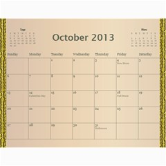 2013 Final By Terry   Wall Calendar 11  X 8 5  (12 Months)   Elkp8ibittec   Www Artscow Com Oct 2013