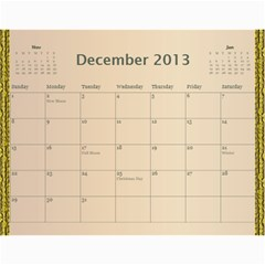 2013 Final By Terry   Wall Calendar 11  X 8 5  (12 Months)   Elkp8ibittec   Www Artscow Com Dec 2013