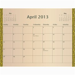 2013 Final By Terry   Wall Calendar 11  X 8 5  (12 Months)   Elkp8ibittec   Www Artscow Com Apr 2013