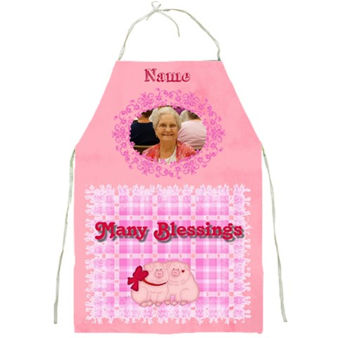 Many Blessings Apron By Joy Johns   Full Print Apron   7i9ocqrj4r7t   Www Artscow Com Front