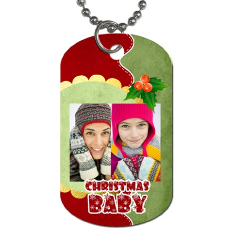 Merry Christmas By Merry Christmas   Dog Tag (one Side)   85t4kxlaybv9   Www Artscow Com Front