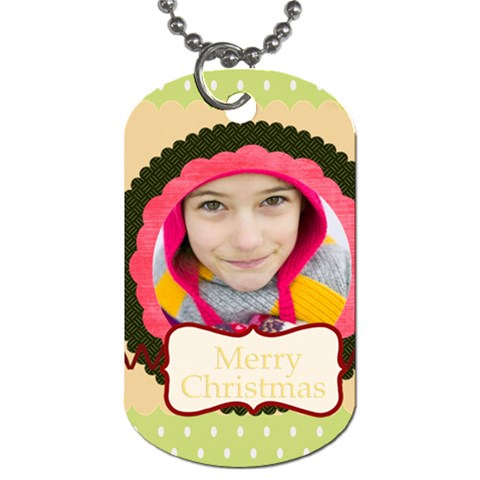 Merry Christmas By Merry Christmas   Dog Tag (one Side)   9pf4j5up8dcr   Www Artscow Com Front