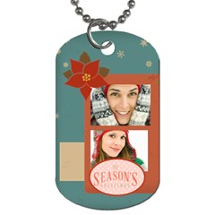 Merry Christmas By Merry Christmas   Dog Tag (two Sides)   Tnghjc9dlown   Www Artscow Com Front