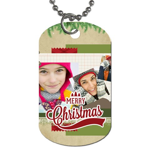 Merry Christmas By Merry Christmas   Dog Tag (one Side)   Xo2t7hmoxdlz   Www Artscow Com Front